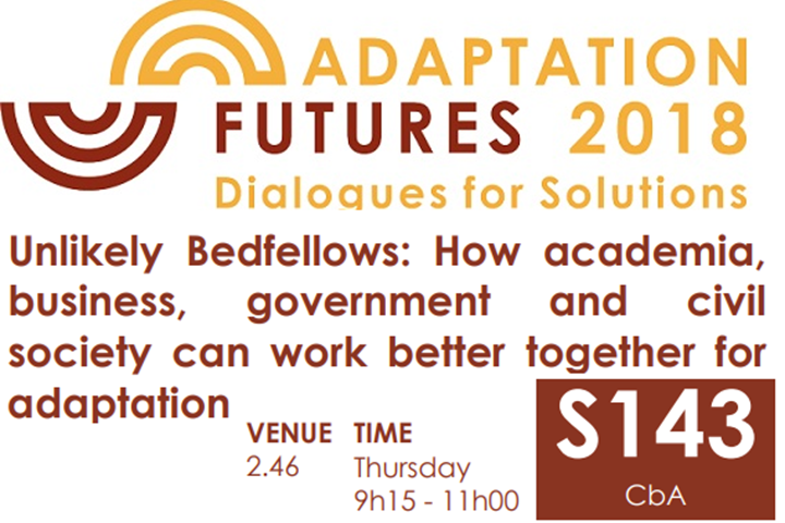 Adaptation Futures 2018 - Dialogues for Solutions
